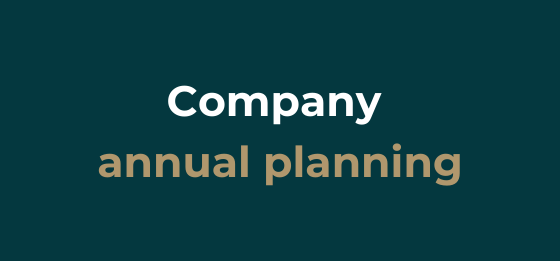 How to make a quarterly or annual company planning.