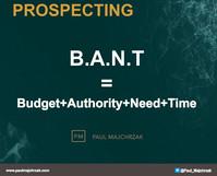 Zasady procesu poszukiwania szans sprzedażowych: B.A.N.T