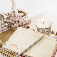 Journal candle flower.jpg