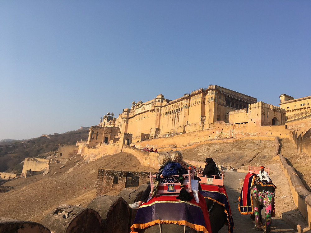 Elephant Ride into Amer Fort