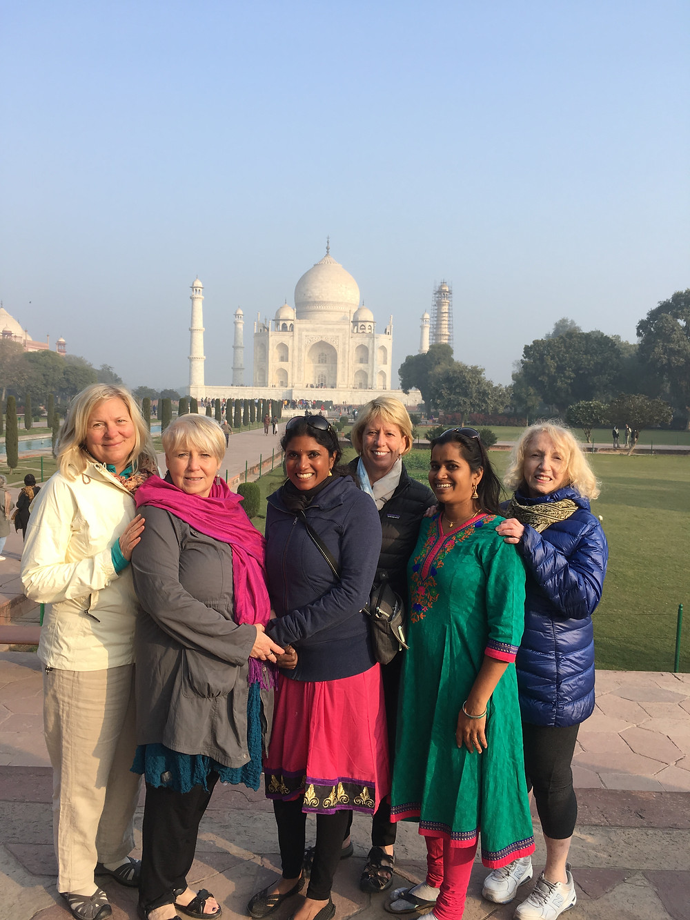 Very cold sunrise at the Taj Mahal