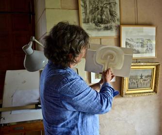 Marie et ses sculptures