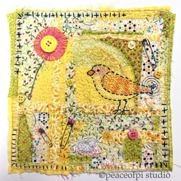 Yellow Flower Bird