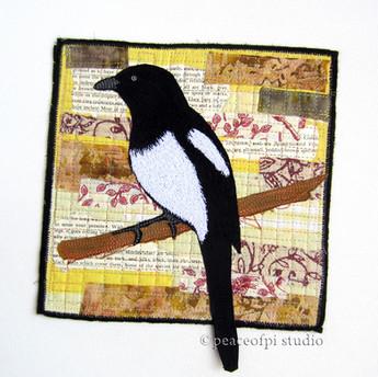 Magpie Art Quilt