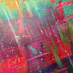 Abstract painting close up