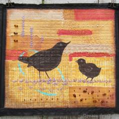 Blackbirds Art Quilt