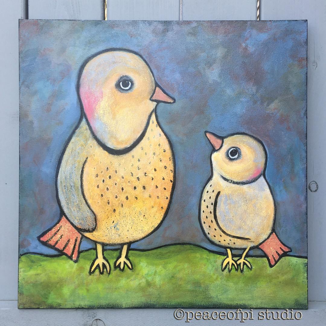 Northern Flicker Mama and Baby Birds