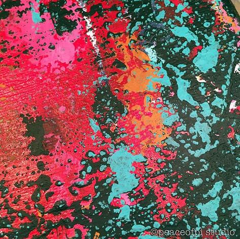 Abstract Acrylic Closeup