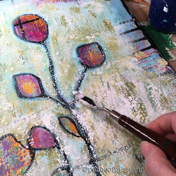 Brighten up the day flower painting