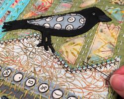 Black Bird Quilt Close Up