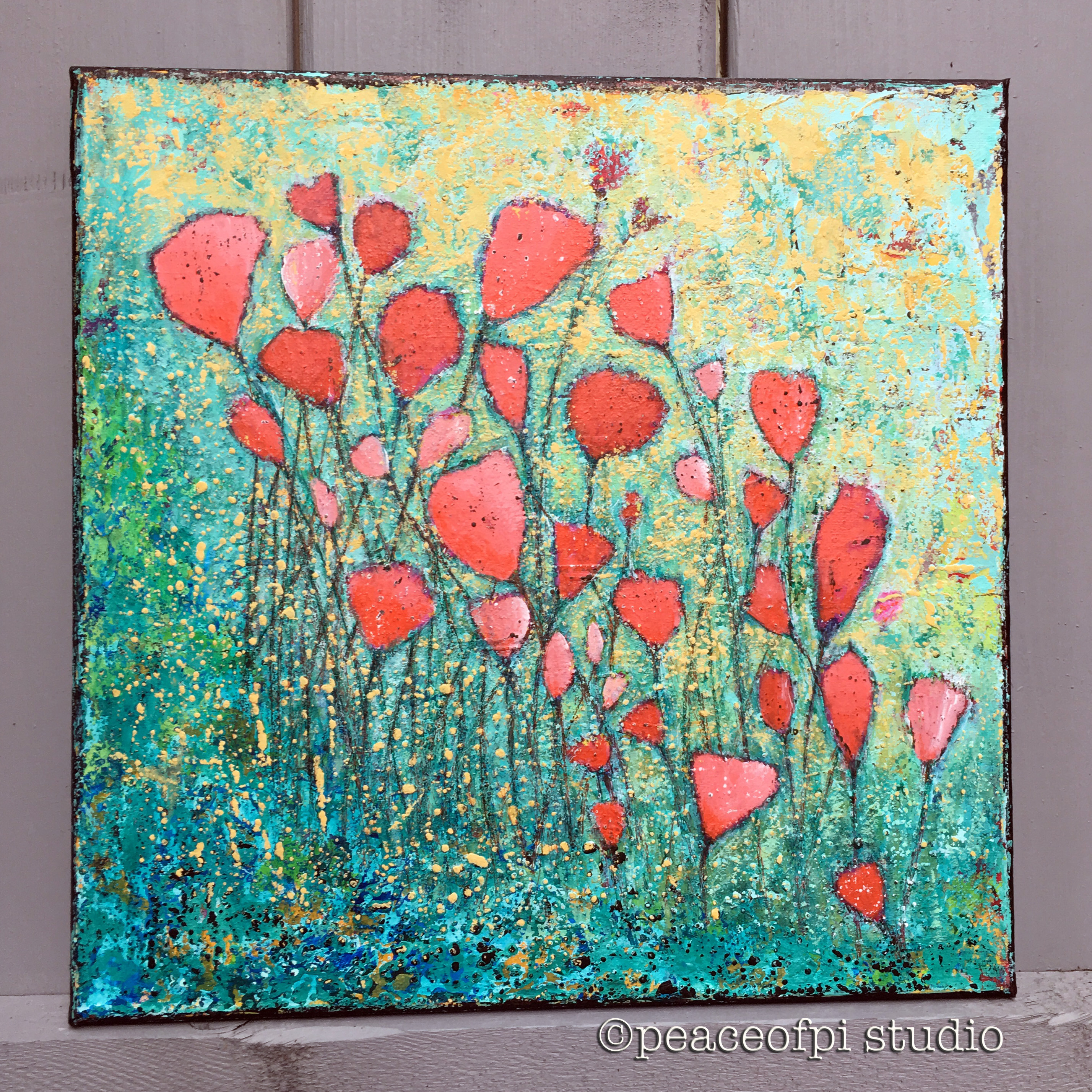 Wildflowers Floral Painting