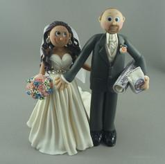 pregnant bride wedding cake topper