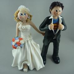 Superman custom made wedding cake topper