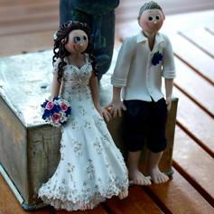 sitting custom made wedding cake topper