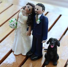 custom made wedding cake topper with dog
