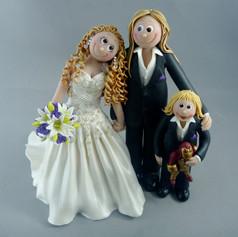 custom made wedding cake topper with kids