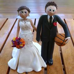 basketball custom made wedding cake topper
