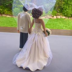 back view, custom made wedding cake topper
