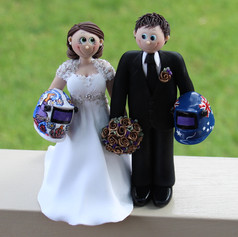 custom made welding bride and groom wedding cake topper