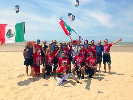 México en el mundial de frisbee de playa en Francia