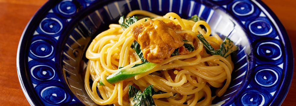 雲丹のクリームスパゲッティ
