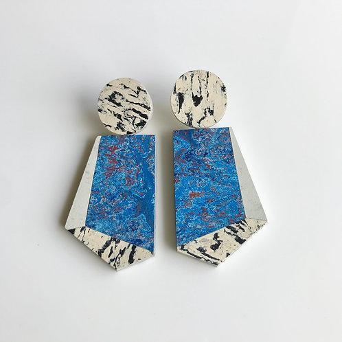 Knocker earrings - Chagall's Circus/Polar Bear/Print