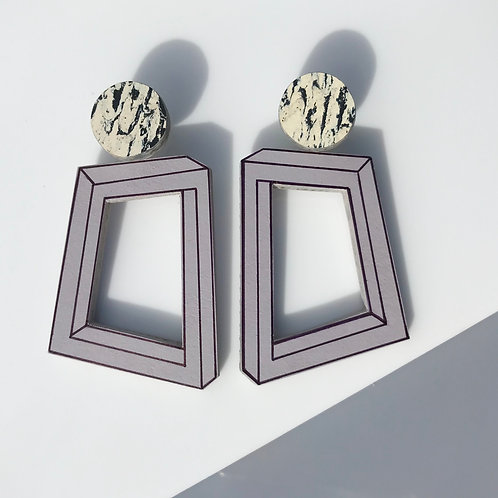 Impossible loopy earrings - Lilac