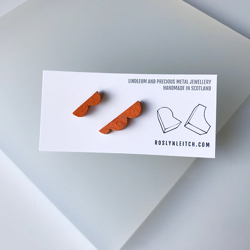 Lumpy stud earrings - Orange Glow