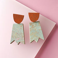 Ghost earrings - Fruit Punch, Orange Glow