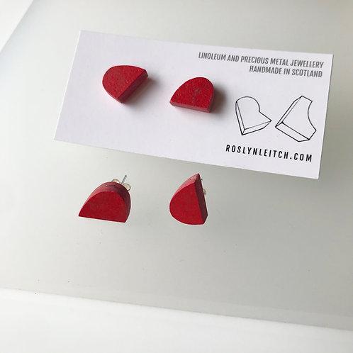 Bump stud earrings - Red Glow