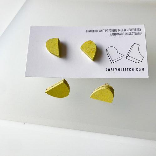Bump stud earrings - Yellow Glow