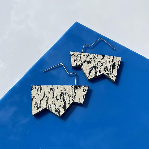 Jagged wire drop earrings - Print