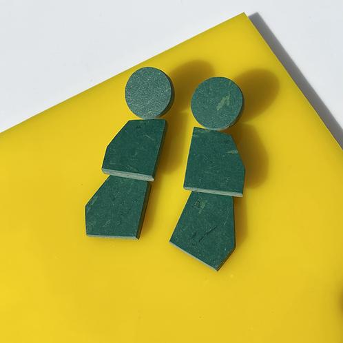 Scale earrings - Greenwood