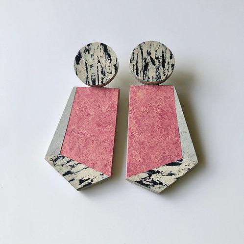 Knocker earrings - Honeysuckle/Polar Bear/Print