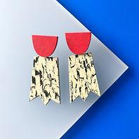 Ghost earrings - Print, Red Glow