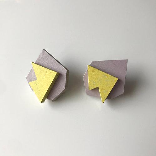Pop earrings - Lilac/Yellow Glow
