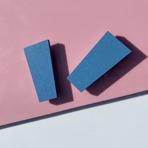 Block magnetic brooch - Nordic Blue