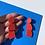 Thumbnail: Scale earrings - Red Glow