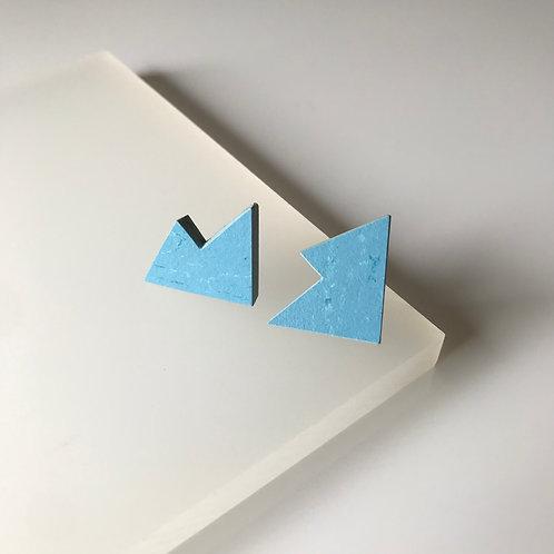 Jagged stud earrings - Nordic Blue