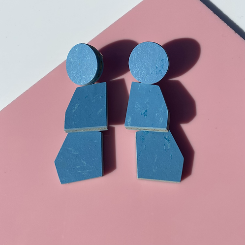 Scale earrings - Nordic Blue