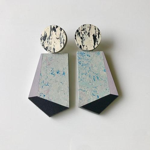 Knocker earrings - Bluemoon/Lilac/Black