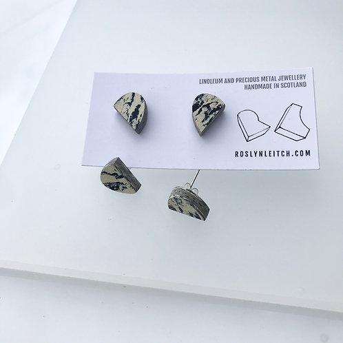 Bump stud earrings - Print