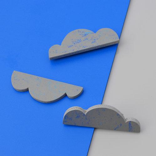 Magnetic Cloud brooch - Blue Shimmer