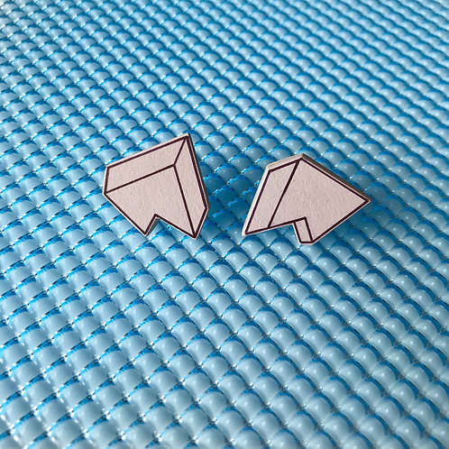 3D Jagged stud earrings - Lilac