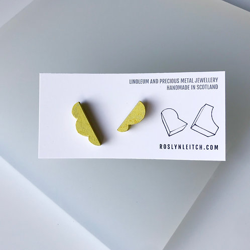 Lumpy stud earrings - Yellow Glow