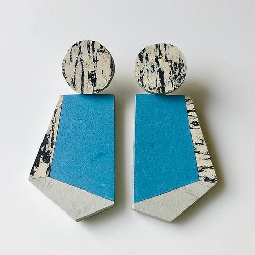 Knocker earrings - Nordic Blue/Print/Polar Bear