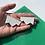 Thumbnail: Jagged wire drop earrings - Polar Bear