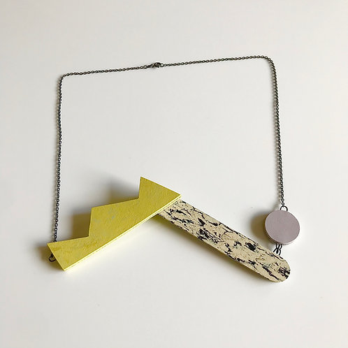 Pivot necklace - Yellow Glow/Lilac