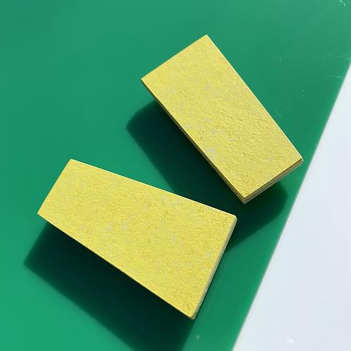 Block magnetic brooch - Yellow Glow