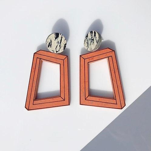 Impossible loopy earrings - Orange Glow